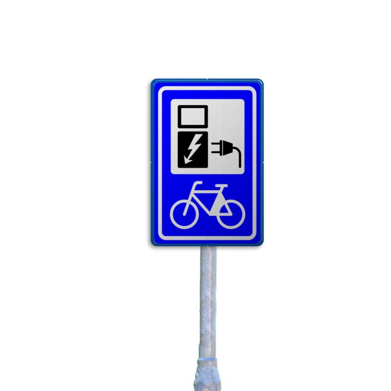 fiets verkeersbord - flespaal