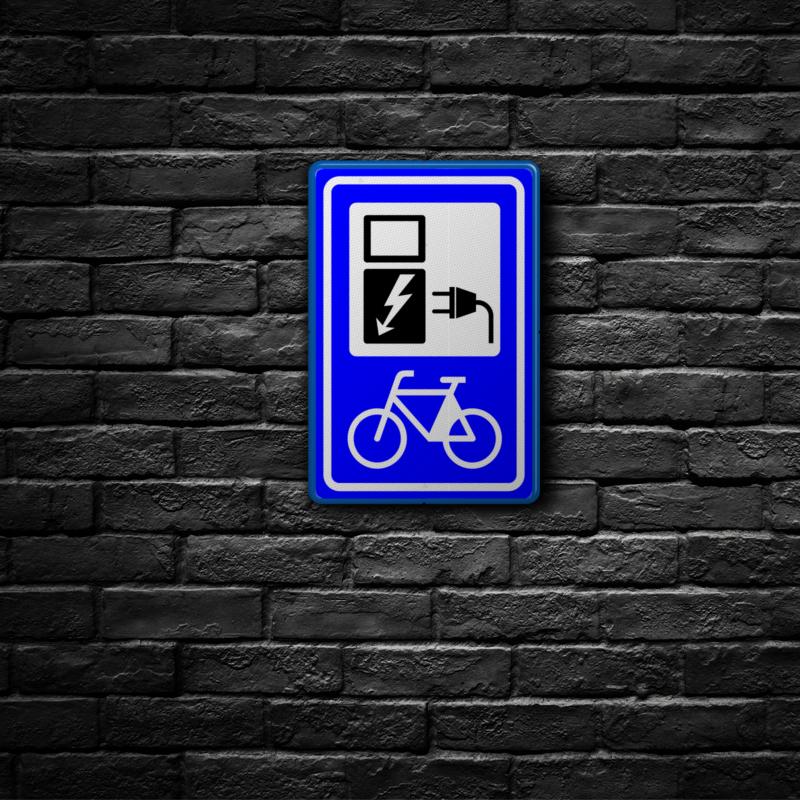 fiets verkeersbords - muur