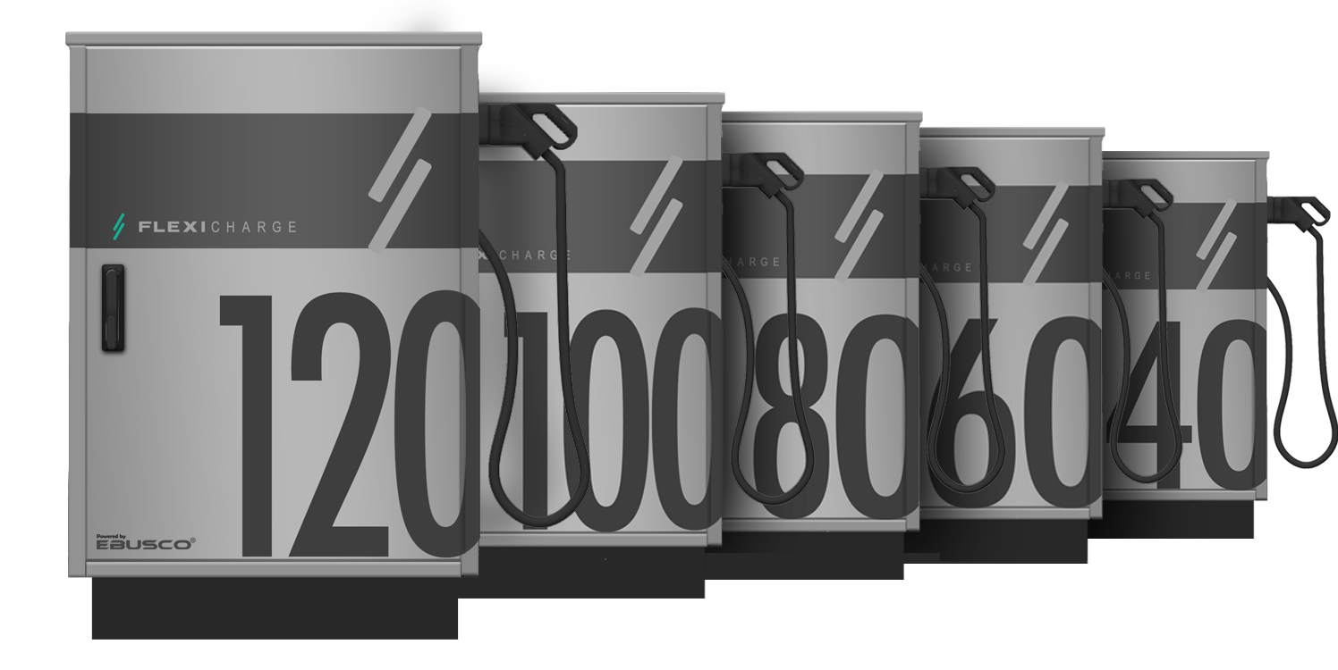 DC SNELLADERS - 40kW-60kW-80kW-100kW-120kW - Split system - Flexicharge